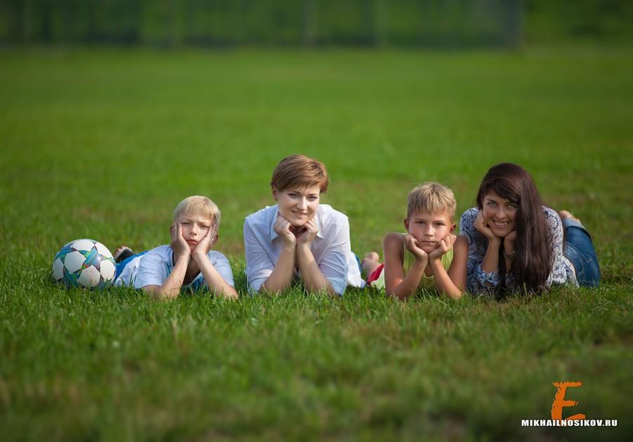 Семейная съемка. Жаркое лето