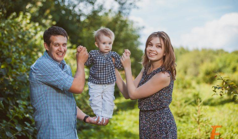 Артур, Надежда и Варя. Семейная съемка
