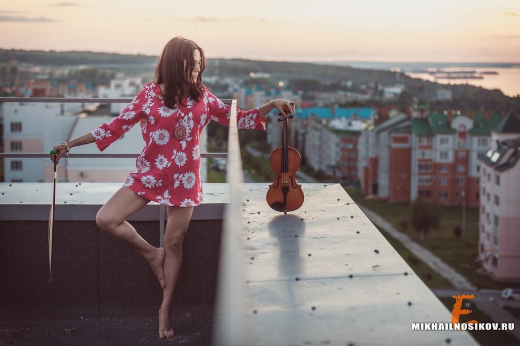 Фотосессия на крыше. Провожая солнце