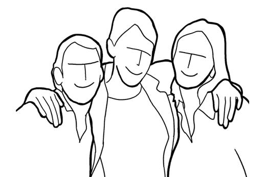 Позирование для семейной фотосессии