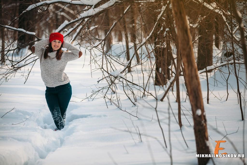 Фотосессия зимой