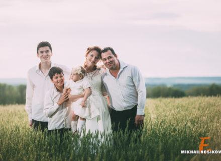 Фотосессия на годовщину свадьбы с детьми