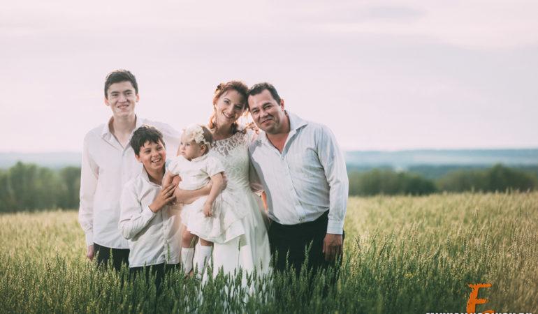 Семейное фото с детьми