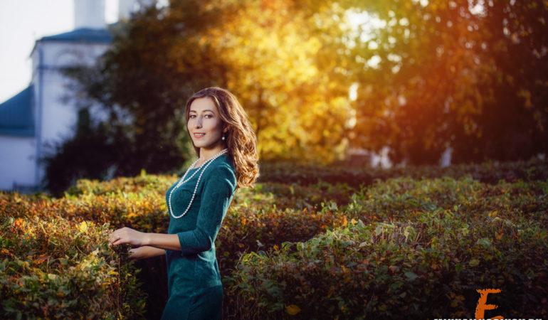 Фотосессия на природе осенью