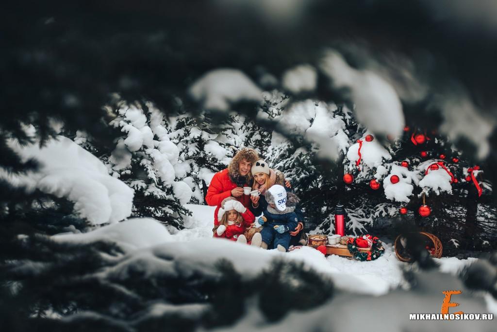 Семейная фотосессия зимой Чебоксары