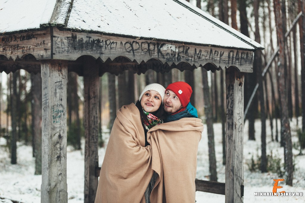 Фотосессия беременности зимой