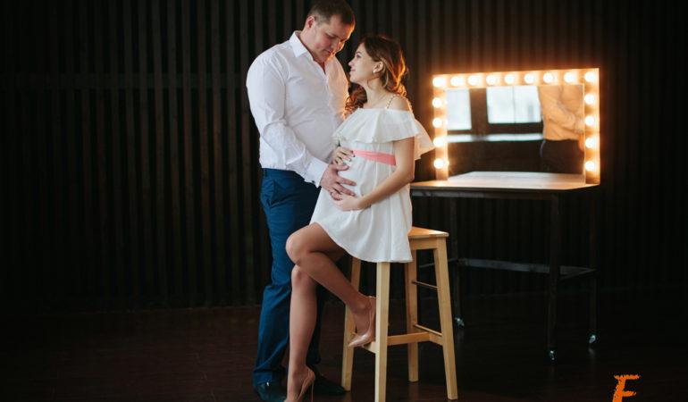 Беременность. Фотосессия в студии