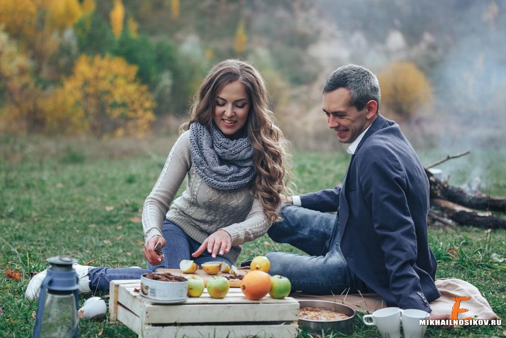 Семейная фотосъемка осенью