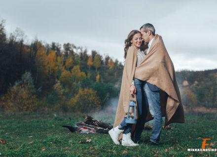 Осенняя фотосессия пары