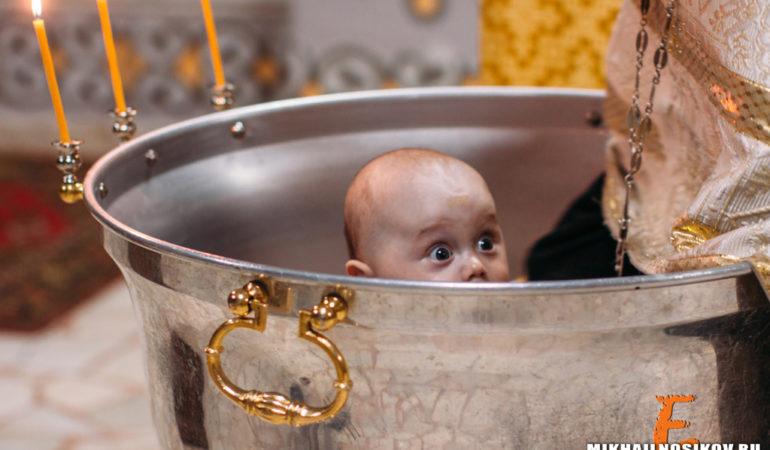 Фотограф на крещение малыша