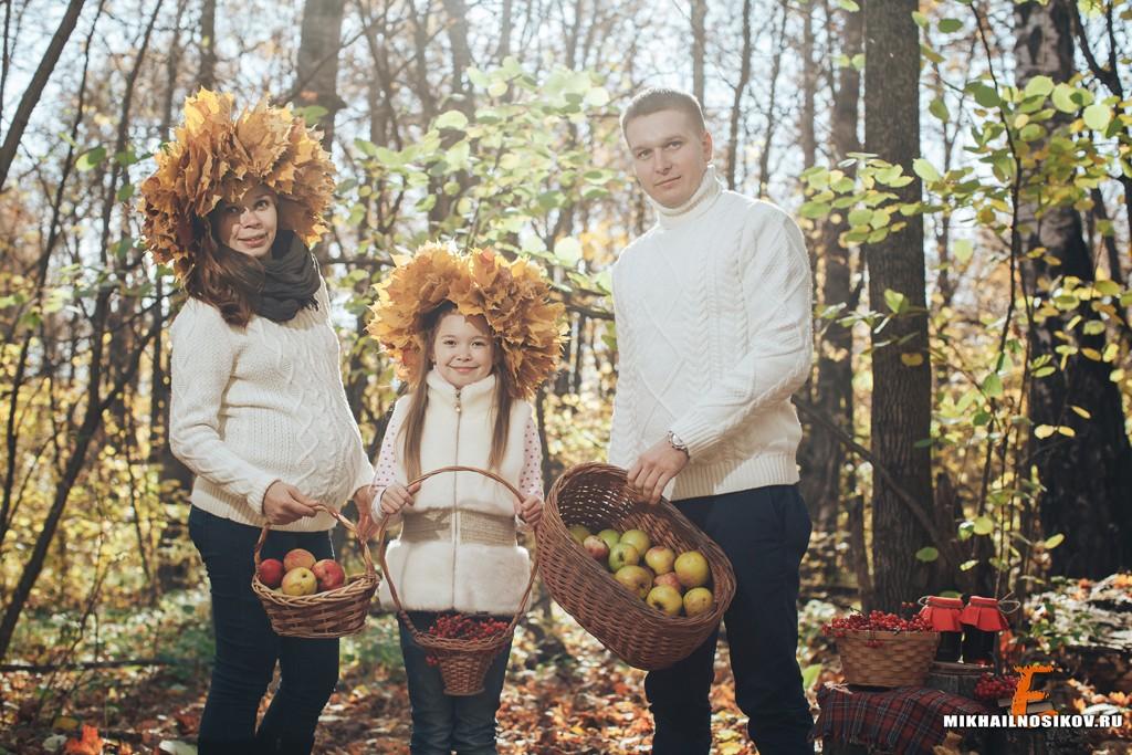 Семейная фотосессия в осеннем парке идеи