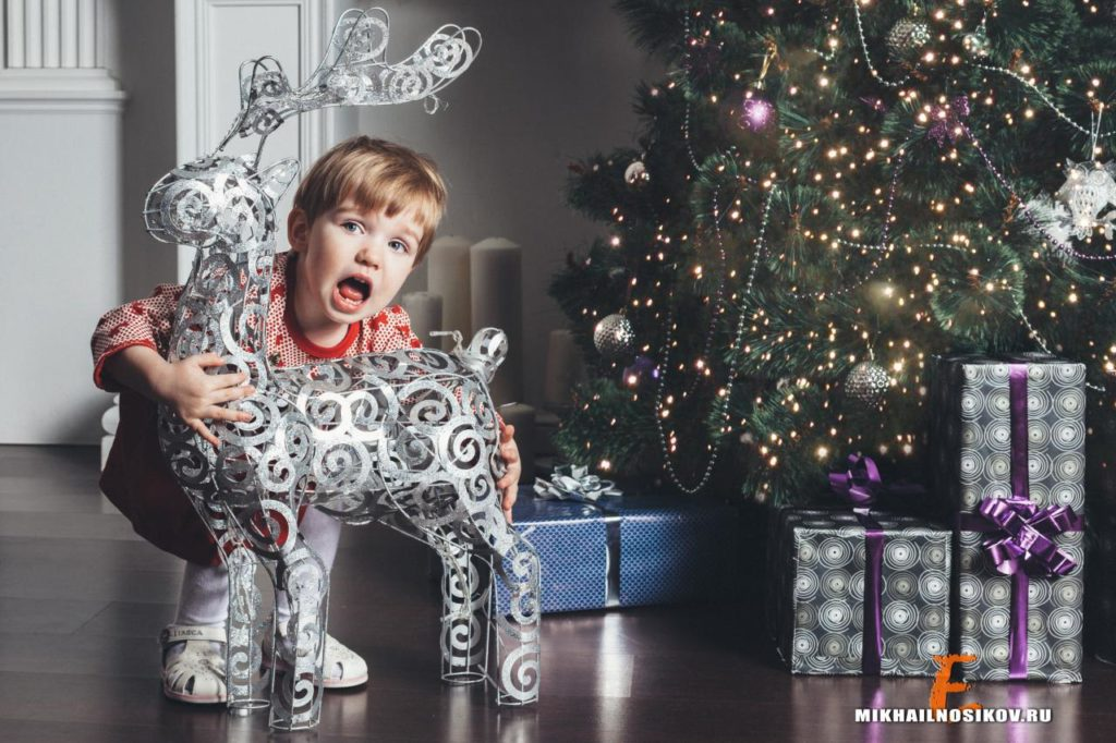 новогодняя фотосессия с детьми